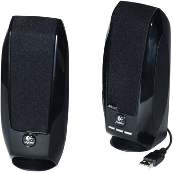 Тонколони Logitech S150, 2.0, 1.2W RMS (0.6W + 0.6W), USB, черни image