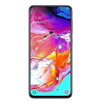 """Смартфон Samsung Galaxy A70 (черен), поддържа 2 sim карти, 6.8"""" (17.27 cm) Super AMOLED дисплей, осемядрен Qualcomm SDM675 Snapdragon 2x 2.0 GHz & 6x 1.7 GHz, 6GB RAM, 128GB Flash памет (+microSD слот), 32.0 предна & 32.0 Mpix задна camera, Android 9 image"""