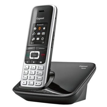"""Безжичен телефон Gigaset S850, 1.8""""(4.57 cm) TFT цветен дисплей, черен image"""