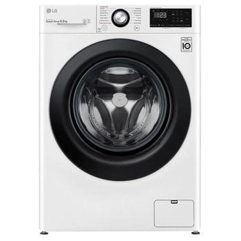 Перална машина LG F2WN2S6S6E, A+++, 6.5 кг. капацитет, 1200 оборота в мин, 14 програми на пране, свободностояща, 60сm ширина, AI DD, Steam, бяла image