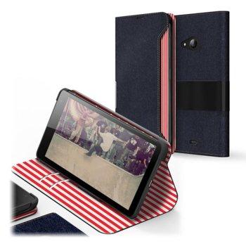 Kалъф за Nokia Lumia 535, отваряем, поликарбонатов, Mozo folding case, черен image
