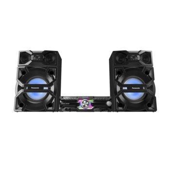 Аудио система Panasonic SC-MAX3500EK, 2.0, 2400W RMS, AIRQUAKE BASS, 25 см свръхнискочестотен говорител, 3-лентов + съраунд, цялостно караоке, Еквалайзер, Bluetooth 2,1 + EDR image