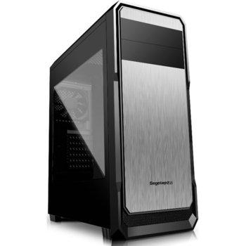 Кутия Segotep The Wind, USB 3.0, ATX/mATX, черен/металик, прозрачен капак, без захранване image