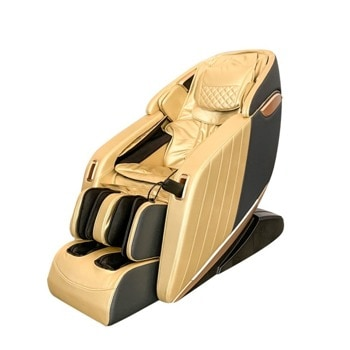 Масажен стол Rexton Z1-GOLD, 3D масаж, 12 автоматични програми, функция загряване, вграден пулт за управление, Bluetooth, златист image