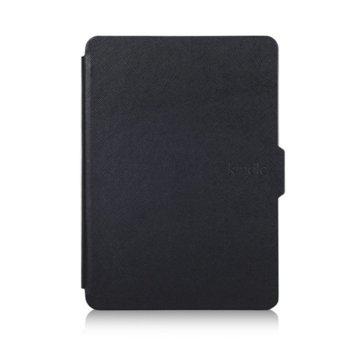 Калъф за електронна книга Kindle (2014), черен, в пакет с протектор за екран и stylus pen image