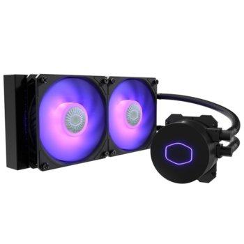 Водно охлаждане за процесор Cooler Master ML240L V2 (MLW-D24M-A18PA-R2), съвместимост със сокети LGA Intel 1150/1151/1155/1156/1200/2011/2011-3/2066 & AMD AM4/AM3+/AM3/AM2+/AM2/FM2+/FM2/FM1 image
