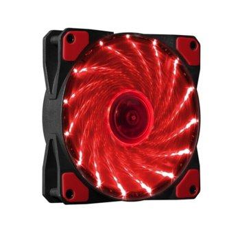 Вентилатор 120mm Makki MAKKI-FAN120-15RD, 4-pin Molex, 1100 rpm, червена подсветка image