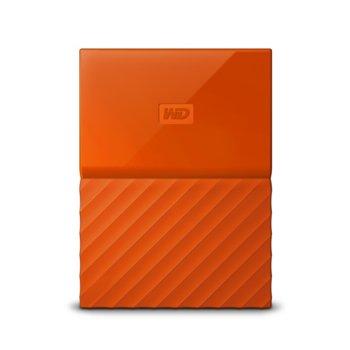 """Твърд диск 1TB Western Digital My Passport, оранжев, външен, 2.5"""" (6.35cm), USB 3.0 image"""