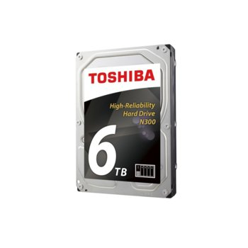 "Твърд диск 6TB Toshiba N300 NAS, SATA 6Gb/s, 7200 rpm, 256MB, 3.5"" (8.89cm) image"