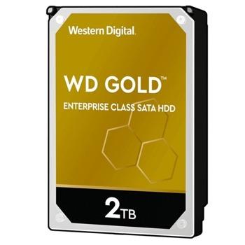 """Твърд диск 2TB WD Gold Enterprise, SATA 6Gb/s, 7200 rpm, 128MB, 3.5""""(8.89 cm) image"""