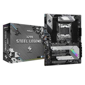 Дънна платка Asrock X299 Steel Legend, X299, LGA2066, DDR4, PCI-E 3.0, (SLI&CFX), 8x SATA 6Gb/s, 1x Ultra M.2 Socket,  image