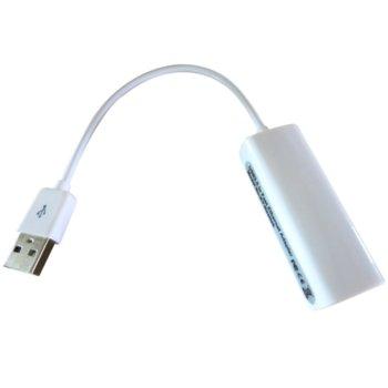 Мрежови адаптер VCom CU834, USB 2.0 А(м) към LAN (RJ-45), 100Mbps image