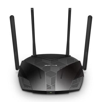 Рутер Mercusys MR70X, 1800Mbps, 2.4GHz (574 Mbps)/5GHz (1201 Mbps), Wireless AX, 3x 10/100/1000Mbps LAN, 4x 5 dBi Фиксирани всенасочени антени image