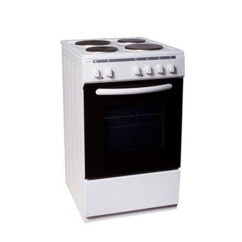 Готварска печка Crown 5400A, клас А, 4 нагреавателни зони, 52.5 л. вместимост на фурната, 3 функции на фурната, бяла  image