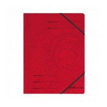 Папка Herlitz Easy Orga, за документи, изработена от картон, с три капака и ластик, размер 250х340мм, червена image