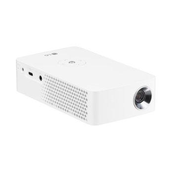 Мини проектор LG MiniBeam PH30JG, портативен, DLP, HD (1280x720), 100 000:1, 250 lm, Bluetooth, Wi-Fi, HDMI, USB Type C image