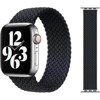 Каишка Sdesign Braided SoloLoop Band (SDLOOP-BBK-44), текстилна, за смарт часовник Apple Watch 42/44mm, черна image