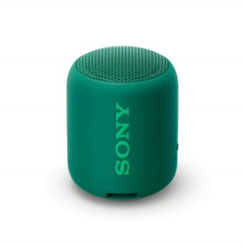 Тонколона Sony SRS-XB12, 1.0, Bluetooth, 3.5mm жак, зелена, IP67 image