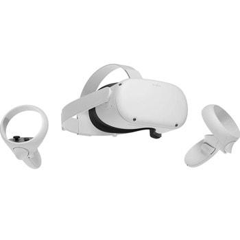 Очила за виртуална реалност Oculus Quest 2 128GB, безжични, Dual OLED дисплей, Oculus Touch контролери, Wi-Fi Bluetooth, USB, бял image
