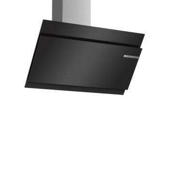 Абсорбатор Bosch DWK97JM60, свободностоящ, колонен, енергиен клас А+, въздухопоток 730 m³/h, 1 мотор, 2 зони на засмукване, 3 степени на мощност + интензивна, черен image