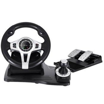 Волан Tracer Roadster 4 in 1 (TRAJOY46524), включва педали и лост, черен, за PC/PS3/PS4/Xbox One image