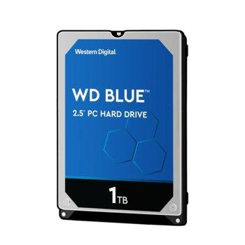 """Твърд диск 1TB Western Digital Blue WD10SPZX, SATA 6Gb/s, 5400 rpm, 128MB, 2.5"""" (6.35 cm) image"""