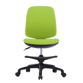 Детски стол RFG Candy Foot Black, дамаска, зелена седалка, зелена облегалка image