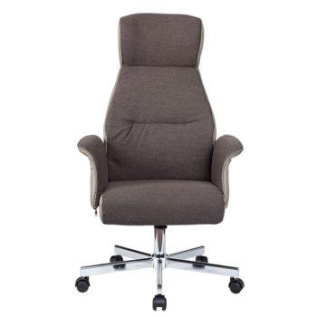 Директорски стол Vinse, дамаска, сив image
