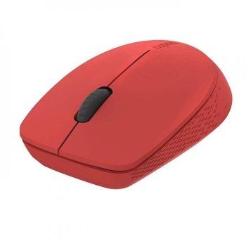 Мишка Rapoo M100 Silent, безжична (Bluetooth 4.0), оптична(1300dpi), USB, червена image