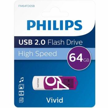 USB Philips VIVID EDITION 64GB 2.0 SE-FM64FD05B product