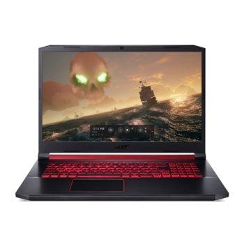 "Лаптоп Acer Nitro 5 AN517-51-71ZY (NH.Q5CEX.00D), шестядрен Coffee Lake Intel Core i7-9750H 2.6/4.5 GHz, 17.3"" (43.94 cm) Full HD IPS Display & GF GTX 1650 4GB, (HDMI), 8GB DDR4, 512GB SSD, 1x USB Type-C, Linux image"