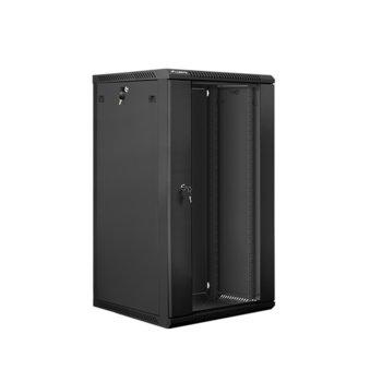 Комуникационен шкаф Lanberg WF01-6622-10B, 22U, 600 x 600 x 1085 mm, черен image