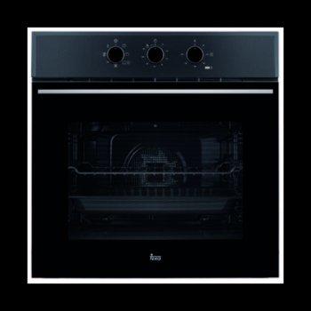 Фурна за вграждане Teka Wish HSB 610, клас А, 70 л. обем, 6 функции, вентилатор, таймер, динамична охлаждаща система, система за водно почистване, черна image
