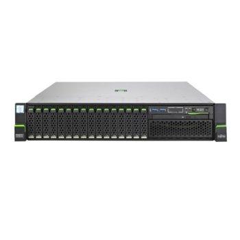 Сървър Fujitsu Primergy RX2540 M5 (VFY:R2545SC010IN), осемядрен Intel® Xeon Silver 4208 2.1/2.5 GHz, 16GB DDR4 RDIMM, без HDD, 4x 1GbE, 5x USB 3.0, 800W image