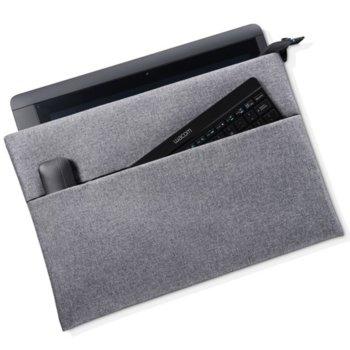 """Кейс Wacom Soft, 13"""" (33.02 cm), предназначен за графичен таблет Wacom Cintiq, сив image"""