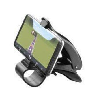 Стойка за телефон Cellularline Pilot View, за кола, универсална, за табло, гумено покритие, черна image