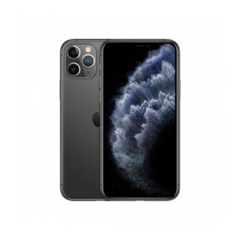 """Смартфон Apple iPhone 11 Pro (Space Grey), 5.8"""" (14.73 cm) Super Retina XDR дисплей, шестядрен A13 Bionic 2.6 GHz, 4GB RAM, 256GB Flash памет, 12.0 + 12.0 + 12.0 & 12.0 MPix камера, iOS 13, 188 g image"""