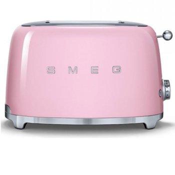 Тостер Smeg TSF01PKEU, функция отказ, автоматично центриране на филийките хляб, автоматично изваждане на филийките след печене, aвтоматично изключване, 7 степени на изпичане, 950 W image