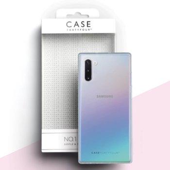 Калъф за Samsung Galaxy Note 10 Plus, термополиуретанов, Case FortyFour No.1 CFFCA0236, прозрачен image