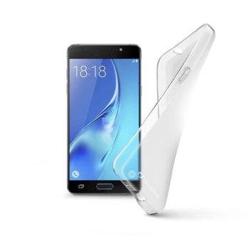 Калъф за Samsung Galaxy J7 2016, страничен протектор с гръб, гумен, Cellular Line Shape, прозрачен image