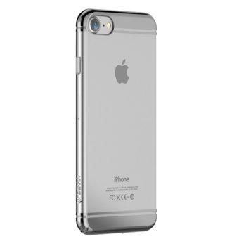 Калъф за Apple iPhone 7, страничен протектор с гръб, поликарбонат, Devia Glimmer2, сребрист image