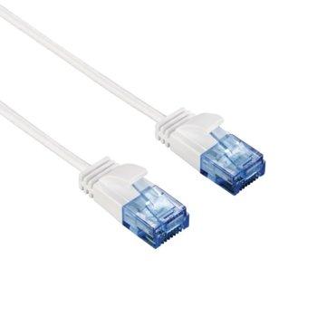 Пач кабел Hama Slim-Flexible, UTP, Cat. 6, 1.5m, бял image