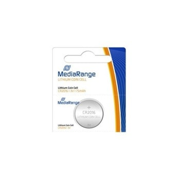 Батерии литиеви MediaRange Coin Cells MRBAT136 CR2016, 3V, 75mAh, 1бр. image