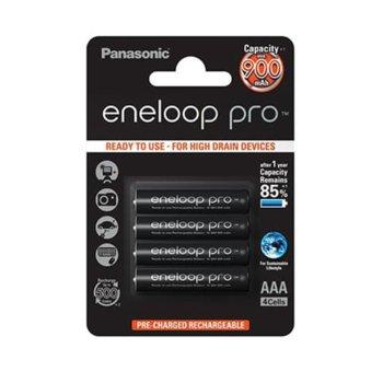 Батерии Panasonic Eneloop Pro, AAA, 900mAh, 1.2V, Ni-MH, 4 бр. image