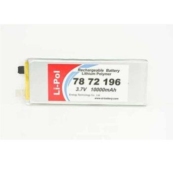 Литиева батерия LP7872196, 3.7V, 10000mAh, Li-polymer, 1бр. image