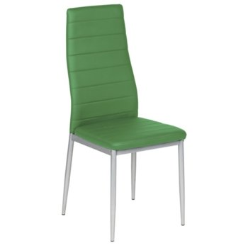 Трапезен стол Carmen 310, еко кожа, метални праховобоядисани крака, зелен image