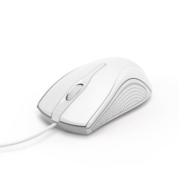 Мишка HAMA MC-200, оптична (1200 dpi), кабел 1.5m, USB, бяла image