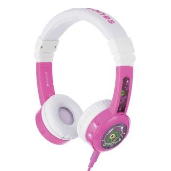 Слушалки BuddyPhones Explore 41122, AUX, детски, 32 ома, 85 dB, розови image
