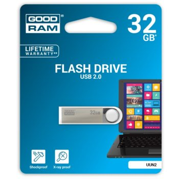 Памет 32GB USB Flash Drive, Goodram UUN2, USB 2.0, сребриста  image
