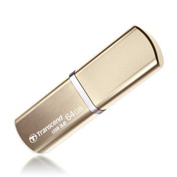 Памет 64GB USB Flash Drive, Transcend JetFlash 820, USB 3.0, златиста image